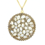Nunu Designs Moonstone Large Round Necklace