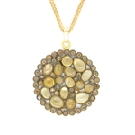 Nunu Designs Citrine Medium Round Necklace