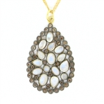 Nunu Designs Moonstone Tear-Drop Necklace