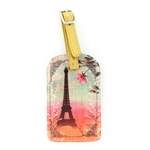 Papaya Luggage Tag - Eiffel Tower