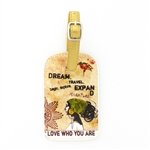 Papaya Luggage Tag - Dream