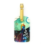 Papaya Luggage Tag - Flora Bird