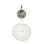 Sandy Baker Mother of Pearl & Paua Shell Rhapsody Pendant