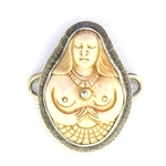 Tabra Bone Earth Goddess Charm