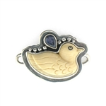 Tabra Bone Duck with Iolite Charm