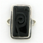 Tabra Black Onyx Carved Rectangle Charm