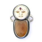 Tabra Pink Chalcedony, Bone Goddess and Ruby Charm