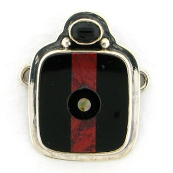 Tabra Black Onyx & Jasper Inlay Charm