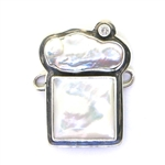 Tabra Mother of Pearl and Freshwater Pearl Charm