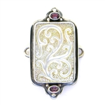 Tabra Mother of Pearl Carving and Pink Tourmaline Charm