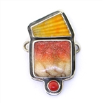 Tabra Scallop Shell and Apple Coral Charm