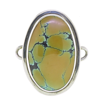 Tabra Chinese Turquoise Oval Charm