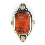 Tabra Faceted Fire Agate and Moonstones Charm
