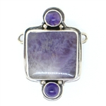 Tabra Amethyst & Flourite Necklace Charm - Large