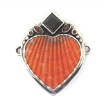 Tabra Scallop Shell Heart with Garnets (Large)