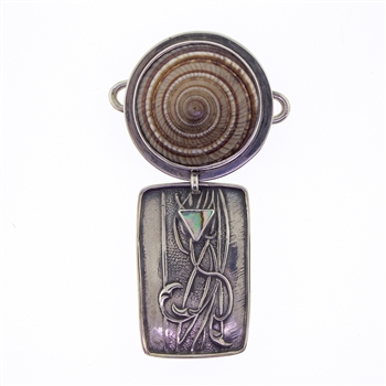 Tabra Sundial Shell & Sterling Drop Charm