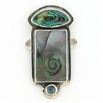 Tabra Mother of Pearl & Paua Shell Charm