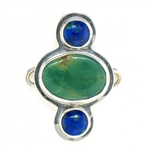 Tabra Turquoise with Double Lapis Charm