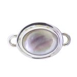 Tabra Mother of Pearl Oval Charm