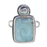 Tabra Amazonite and Pearl Charm