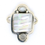 Tabra Mother of Pearl & Moonstone Charm