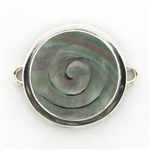 Tabra Mother of Pearl Round Swirl Charm