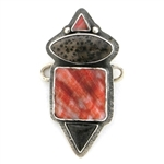 Tabra Ocean Red Scallop Shell Shell & Palmwood Charm