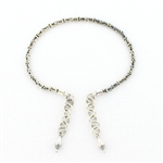 AK24 Tabra Connector Anklet Chain-Silver Bali Link