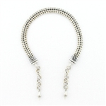 AK25 Tabra Connector Anklet Chain-Silver V-Mesh