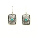 Tabra Turquoise Greek Key Emboss on Wires