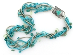 Tabra Bali Beaded Turquoise & Glass Seed Beads Necklace