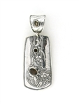Tabra Bali Beaded Smokey Quartz Clip-On Pendant
