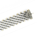 Tabra Connector Bracelet Chain-Silver Wide Open Link CBR29