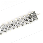 Tabra Connector Bracelet Chain-Silver Narrow Open Link CBR37