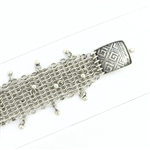 Tabra Connector Bracelet Chain-Silver Narrow Dangle Greek Key CBR39