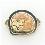 Tabra Bone Red Siamese Cat Charm - Small