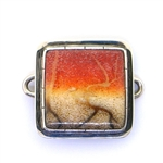 Tabra Apple Coral Charm - Square
