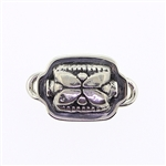 Tabra Small Silver Flower Rectangle Charm