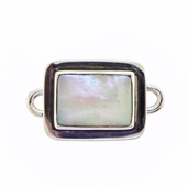 Tabra Mother of Pearl Small Rectangle Charm