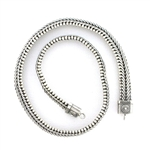 CNK02 Tabra Necklace Connector Chain Silver V-Mesh