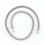CNK03 Tabra Necklace Connector Chain Silver Half Round