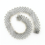 CNK20 Tabra Necklace Connector Chain Silver Open Weave
