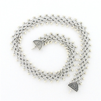 CNK21 Tabra Necklace Connector Chain Silver Narrow Open Weave