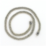 CNK27 Tabra Necklace Connector Chain Silver Narrow V-Mesh