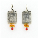 Tabra Amber & Coral Earrings