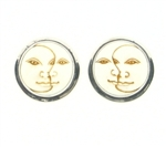 Tabra Bone Sun-Moon Earrings on Posts