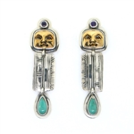 Tabra Moon Goddess Earrings with Turquoise