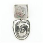 Tabra Mother of Pearl Pendant with Swirl Emboss