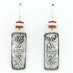 Tabra Silver Emboss Earrings with Copper Beads