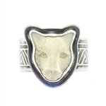 Tabra Bone Jaguar Ring
